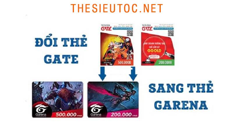[Hỏi Đáp] Cách đổi thẻ Gate sang thẻ Garena
